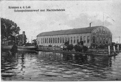 Het ontstaan van scheepswerf j en k smit te krimpen a d lek historische vereniging crempene - Kantoor onder helling ...