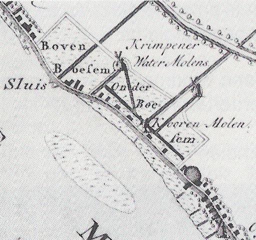 kaart Krimpenerwaard 1751