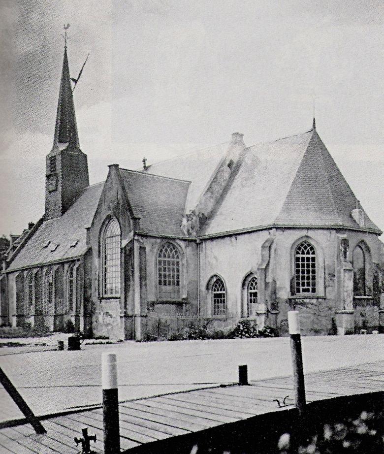 Foto Leen Boon van dezelfde kerk 1940